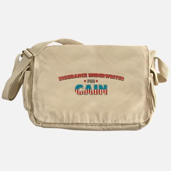 Insurance underwriter for Cai Messenger Bag