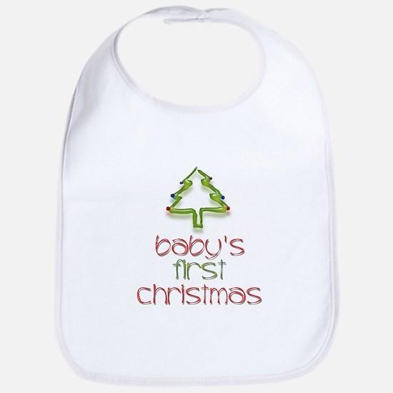 Baby's First Christmas (Tree) Bib