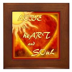 Love is... Heart and Soul - Framed Tile
