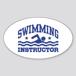 Swimming Instructor Sticker (Oval)