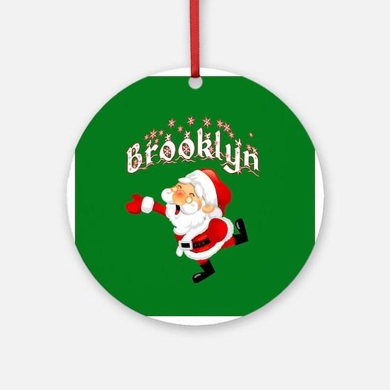 Brooklyn Christmas Ornament (Round)