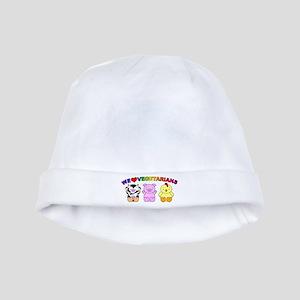 We Love Vegetarians baby hat