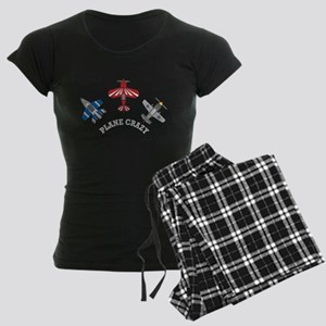 Aviation Plane Crazy Women's Dark Pajamas