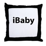 iBaby (black font) Throw Pillow