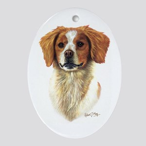 Brittany Spaniel Ornament (Oval)