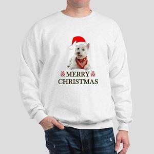 Westie Christmas W/Candy Cane Sweatshirt