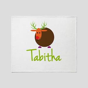 Tabitha the Reindeer Throw Blanket