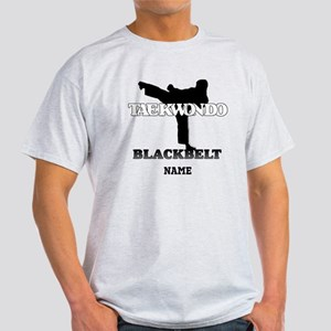 Personalized TaeKwonDo Black Belt Light T-Shirt