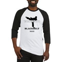 Personalized TaeKwonDo Black Belt Baseball Jersey