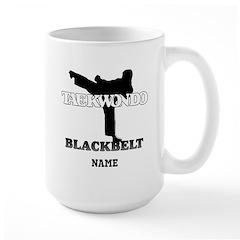 Personalized TaeKwonDo Black Belt Large Mug