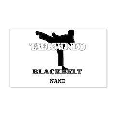 Personalized TaeKwonDo Black Belt 22x14 Wall Peel