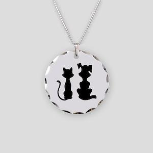 Cat & dog Necklace Circle Charm