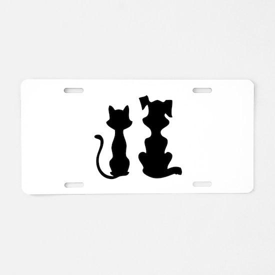 Cat & dog Aluminum License Plate