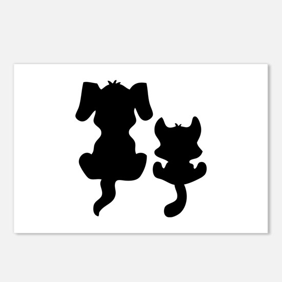 Little cat & dog Postcards (Package of 8)