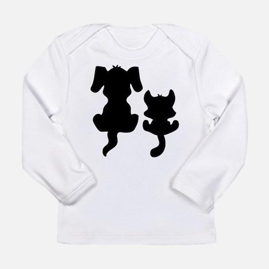 Little cat & dog Long Sleeve Infant T-Shirt