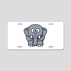 Cartoon Elephant Aluminum License Plate