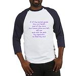 Hyacinths to feed thy soul Baseball Jersey
