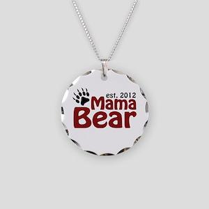 Mama Bear Est 2012 Necklace Circle Charm