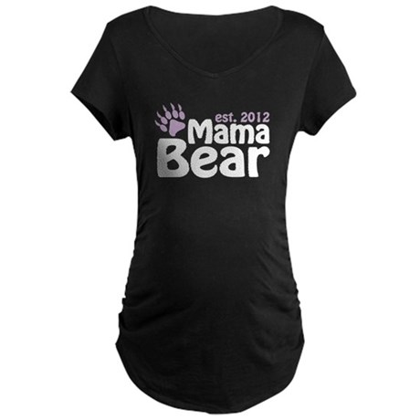Mama Bear Est 2012 Maternity Dark T-Shirt