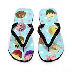 Polka Dot Cupcake Flip Flops