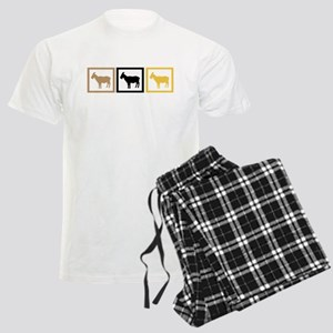 Goat Squares Men's Light Pajamas
