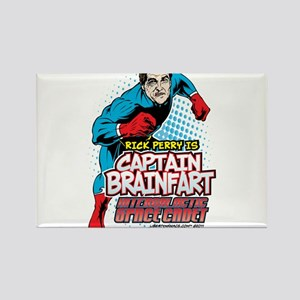 Perry Captain Brain Fart Rectangle Magnet (10 pack