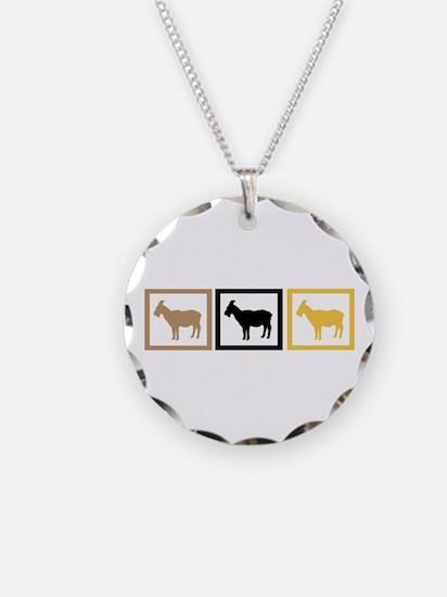 Goat Squares Necklace