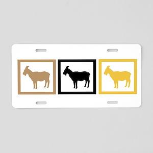 Goat Squares Aluminum License Plate