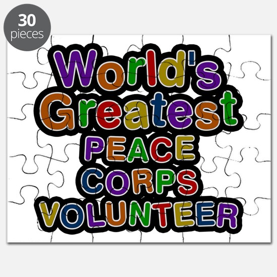 World's Greatest PEACE CORPS VOLUNTEER Puzzle