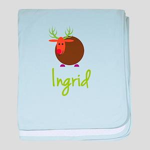 Ingrid the Reindeer baby blanket