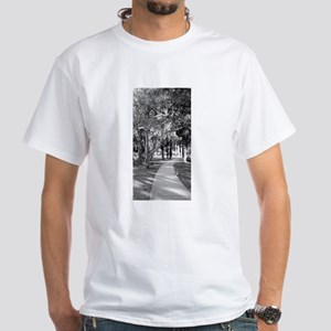 City Park Scenery White T-Shirt
