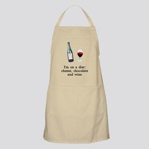 Cheese Chocolate Wine Diet Apron