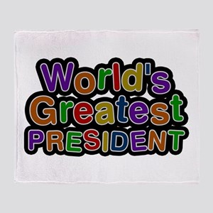 World's Greatest PRESIDENT Throw Blanket