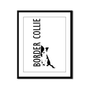 Border Collie Framed Panel Print