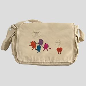 Heart Zombies Color Messenger Bag