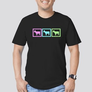 Goat Squares Men's Fitted T-Shirt (dark)