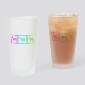 Goat Squares Drinking Glass