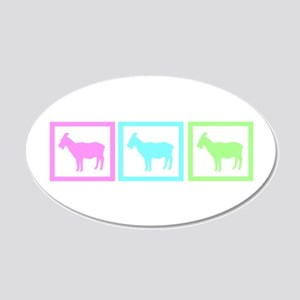 Goat Squares 22x14 Oval Wall Peel