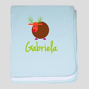 Gabriela the Reindeer baby blanket
