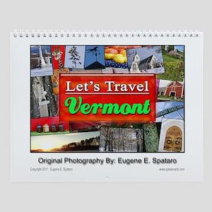 "Vermont ""Let's Travel"" Wall Calendar"