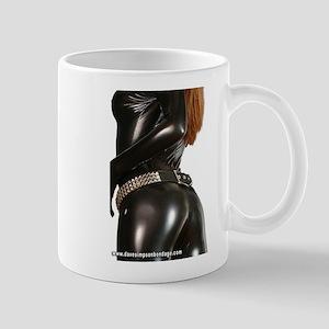 Girl In Black Catsuit Mug