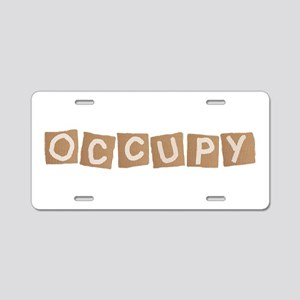 occupy cardboard sign Aluminum License Plate