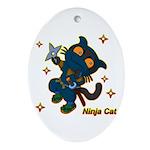 Ninja cat Ornament (Oval)