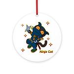 Ninja cat Ornament (Round)