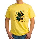 Ninja cat Yellow T-Shirt