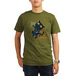 Ninja cat Organic Men's T-Shirt (dark)