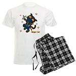 Ninja cat Men's Light Pajamas