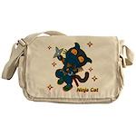 Ninja cat Messenger Bag