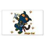 Ninja cat Sticker (Rectangle)