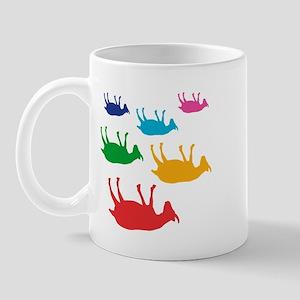 Fainting Goats Rainbow Mug